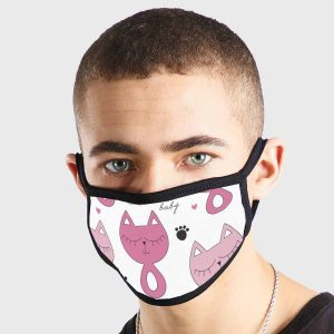 Animals Cat Baby Non Medical 3 Ply Face Mask