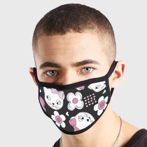 Animals Cute Kissy Cat Non Medical 3 Ply Face Mask