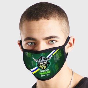 Canberra Raiders NRL Non Medical 3 Ply Face Mask