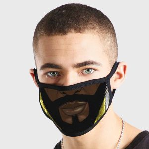 Comic Bearded Non Medical 3 Ply Face Mask