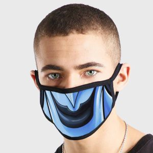 Comic Blue Smile Non Medical 3 Ply Face Mask