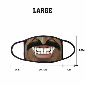 Comic Fangs Non Medical 3 Ply Large Face Mask Size