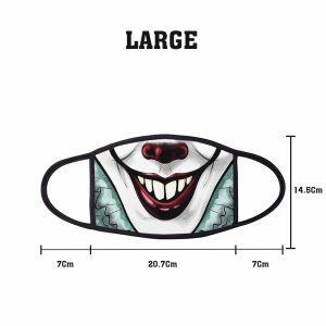 Comic IT Clown 2 Non Medical 3 Ply Large Face Mask Size