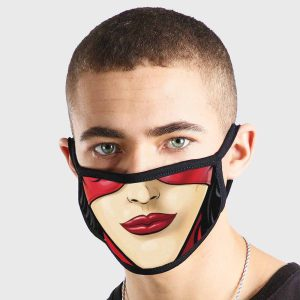 Comic Masked Female Non Medical 3 Ply Face Mask
