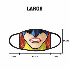 Comic SuperHero Female Non Medical 3 Ply Large Face Mask Size