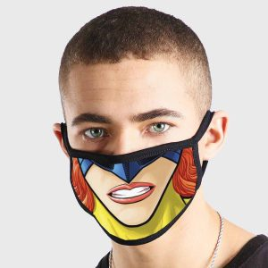 Comic SuperHero Female Non Medical 3 Ply Face Mask