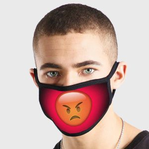 Emoji Angry Non Medical 3 Ply Face Mask