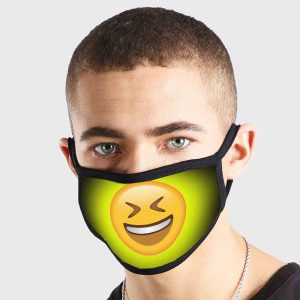 Emoji Closed Eyes Laughing Non Medical 3 Ply Face Mask