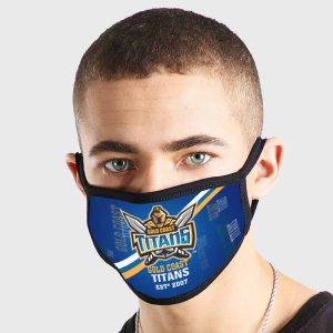 Gold Coast Titans NRL Non Medical 3 Ply Face Mask