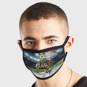 Green Bay Packers NFL Non Medical 3 Ply Face Mask