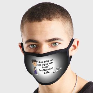 Jay Bilzerian Quote Big Mouth Non Medical 3 Ply Face Mask