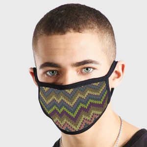 Knitted Pattern Non Medical 3 Ply Face Mask