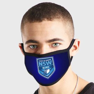 NSW Blues NRL Non Medical 3 Ply Face Mask