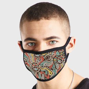 Pattern Abstract Art Aboriginal Non Medical 3 Ply Face Mask