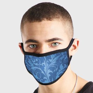 Pattern Abstract Art Blue Elegance Non Medical 3 Ply Face Mask