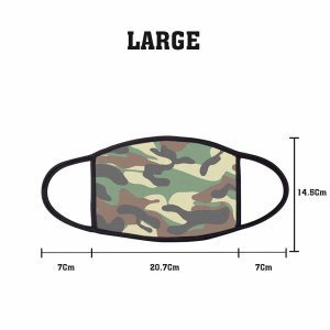 Pattern Army Camouflage 2 Non Medical 3 Ply Large Face Mask Size