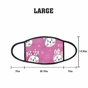 Pink Headband Kitten Non Medical 3 Ply Large Face Mask Size