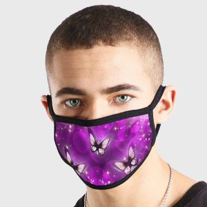 Purple Butterflies Non Medical 3 Ply Face Mask