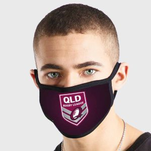 QLD Maroons NRL Non Medical 3 Ply Face Mask