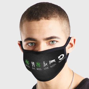 Weed Life Non Medical 3 Ply Face Mask